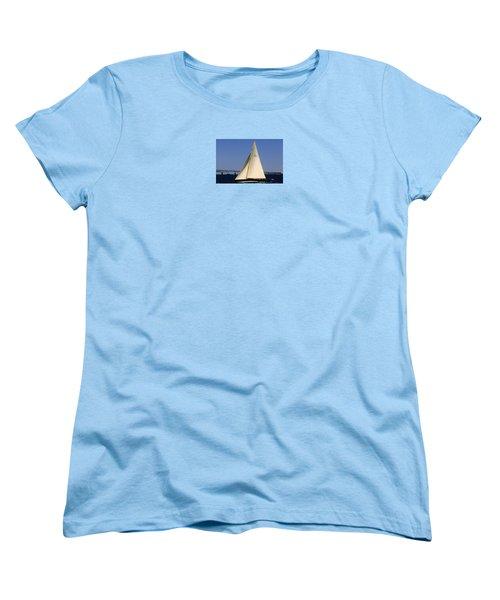 Women's T-Shirt (Standard Cut) featuring the photograph The 12 Meter Newport by Tom Prendergast