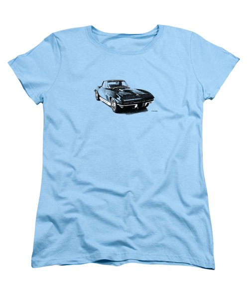 The 66 Vette Women's T-Shirt (Standard Cut) by Mark Rogan