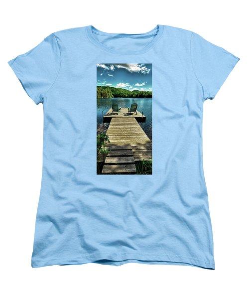 The Adirondacks Women's T-Shirt (Standard Cut) by David Patterson