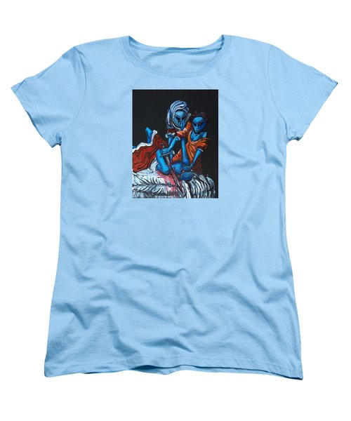Women's T-Shirt (Standard Cut) featuring the painting The Alien Judith Beheading The Alien Holofernes by Similar Alien