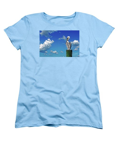 The American Brown Pelican Women's T-Shirt (Standard Cut) by Paul Mashburn