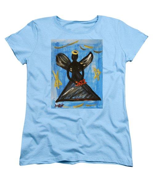 The Angel Of Jazz Women's T-Shirt (Standard Cut) by Mary Carol Williams
