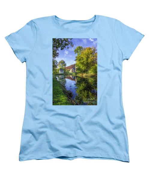 Women's T-Shirt (Standard Cut) featuring the photograph The Autumn Pond by Ian Mitchell