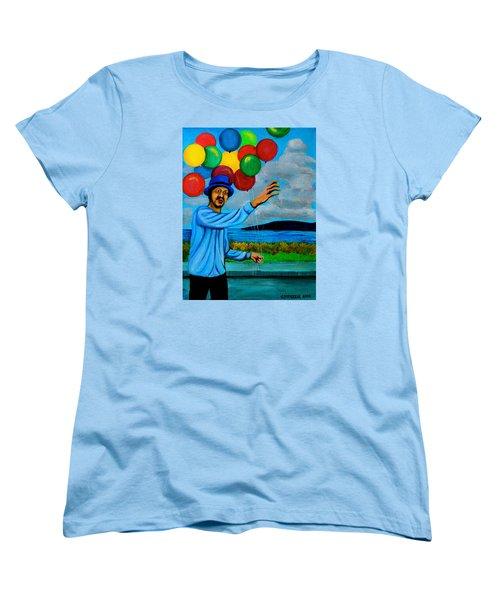 The Balloon Vendor Women's T-Shirt (Standard Cut) by Cyril Maza