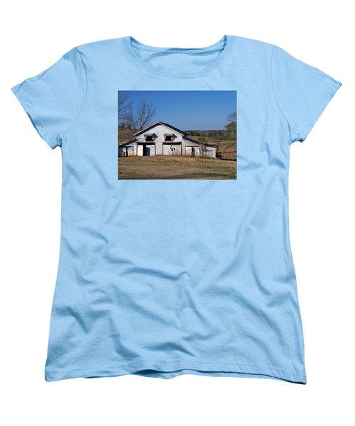 Women's T-Shirt (Standard Cut) featuring the photograph The Barn by Betty Northcutt