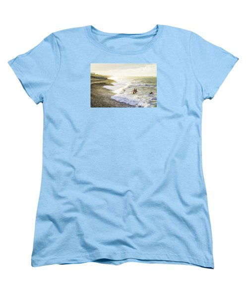 Women's T-Shirt (Standard Cut) featuring the photograph The Bathers by Russell Styles