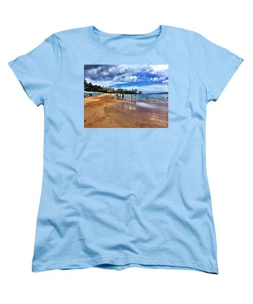 Women's T-Shirt (Standard Cut) featuring the photograph The Beach 2 by Michael Albright
