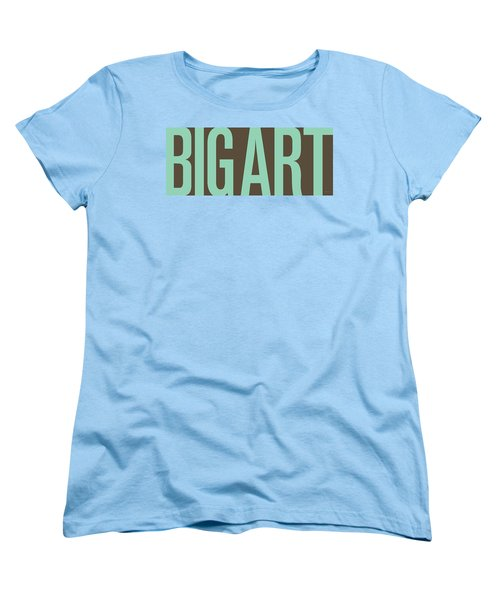 The Big Art - Pure Emerald On Cotton Women's T-Shirt (Standard Cut) by Serge Averbukh