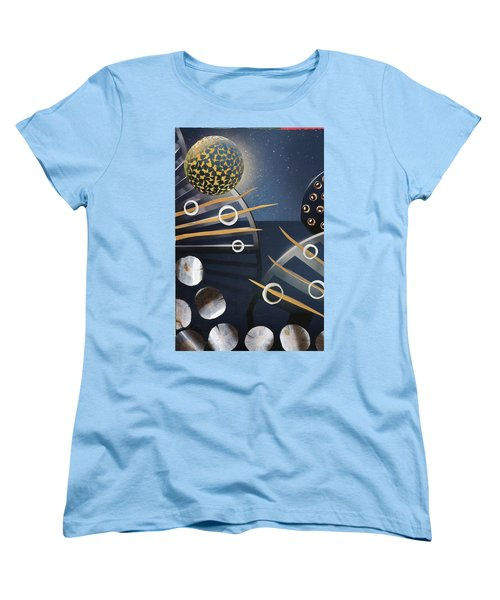 Women's T-Shirt (Standard Cut) featuring the painting The Big Bang by Michal Mitak Mahgerefteh