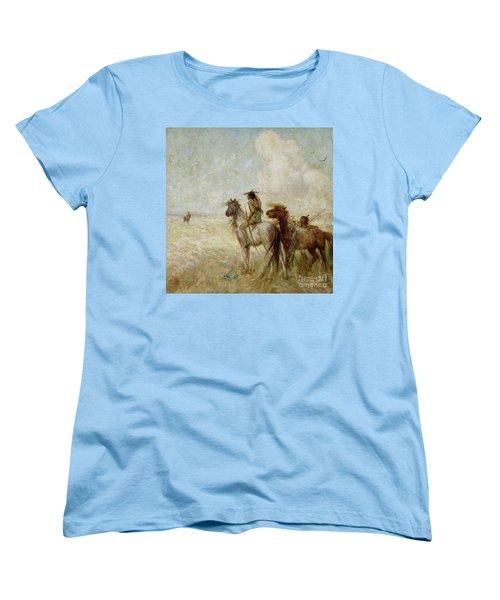The Bison Hunters Women's T-Shirt (Standard Cut) by Nathaniel Hughes John Baird