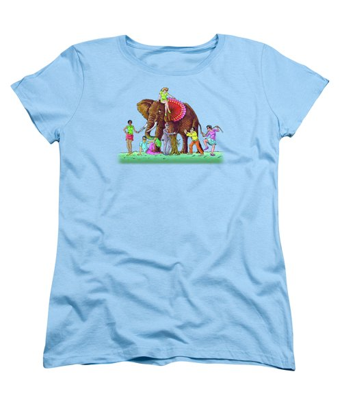 The Blind And The Elephant Women's T-Shirt (Standard Cut) by Anthony Mwangi
