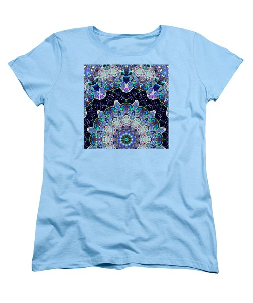 Women's T-Shirt (Standard Cut) featuring the digital art The Blue Collective 05b by Wendy J St Christopher