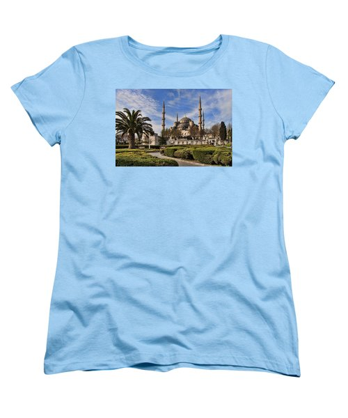 The Blue Mosque In Istanbul Turkey Women's T-Shirt (Standard Cut) by David Smith