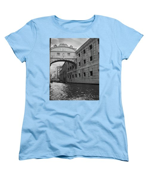 Women's T-Shirt (Standard Cut) featuring the photograph The Bridge Of Sighs, Venice, Italy by Richard Goodrich