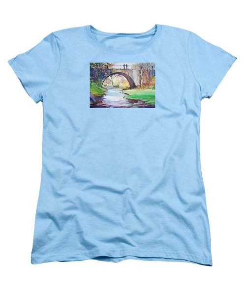 The Bridge Over Brewster Garden Women's T-Shirt (Standard Cut) by P Anthony Visco