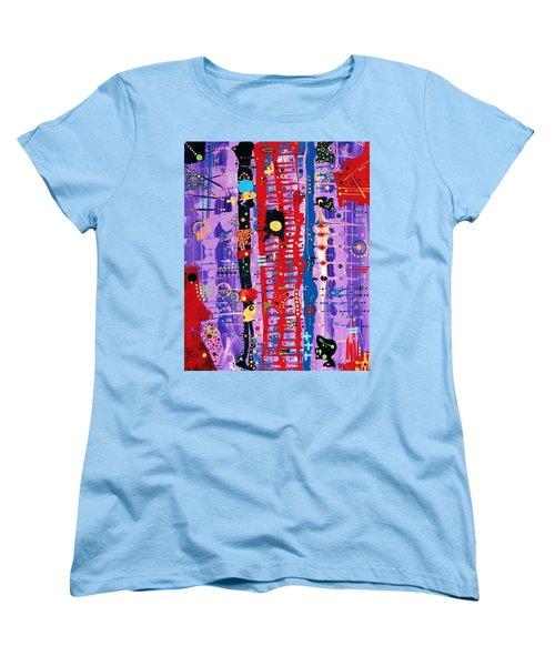 The Bright Red Ladder To Success Women's T-Shirt (Standard Cut)