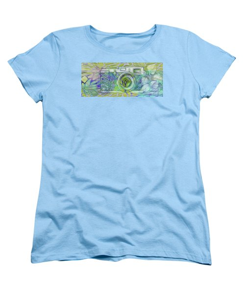 Women's T-Shirt (Standard Cut) featuring the digital art The Camera - 02c5b by Variance Collections