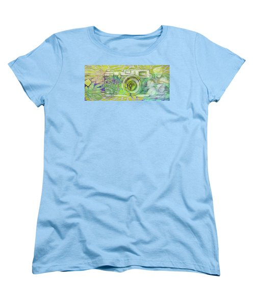 Women's T-Shirt (Standard Cut) featuring the digital art The Camera - 02c5bt by Variance Collections