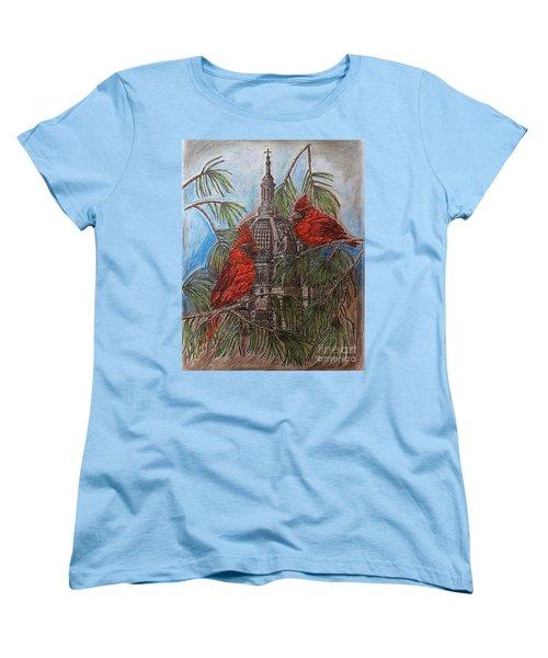 The Cardinals Visit St.pauls Cathedral Women's T-Shirt (Standard Cut) by Kim Jones