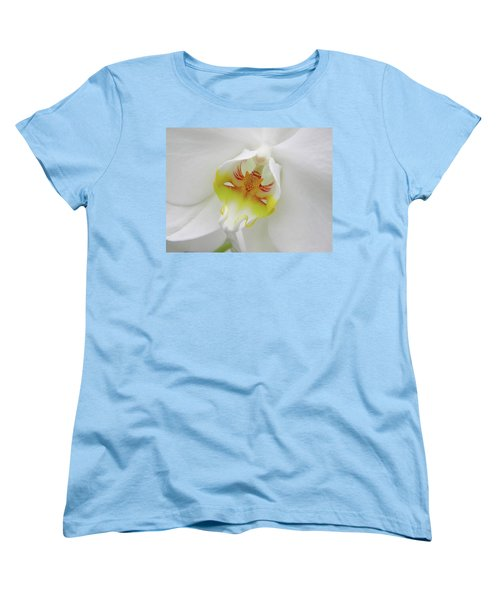 Women's T-Shirt (Standard Cut) featuring the photograph The Cat Side Of An Orchid by Manuela Constantin