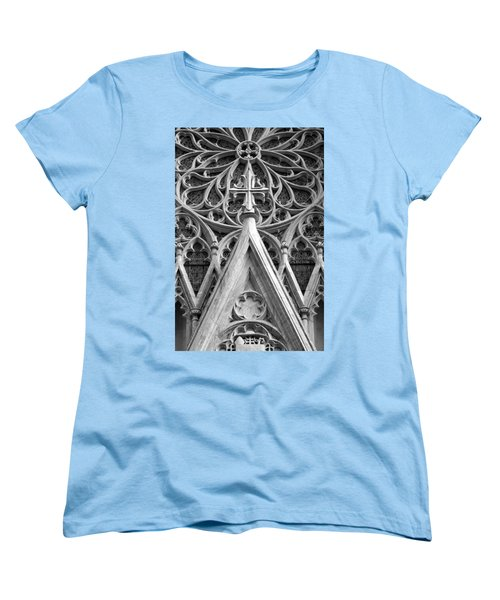 The Cathedral Of St. Patrick Close Up Women's T-Shirt (Standard Cut) by Michael Dorn