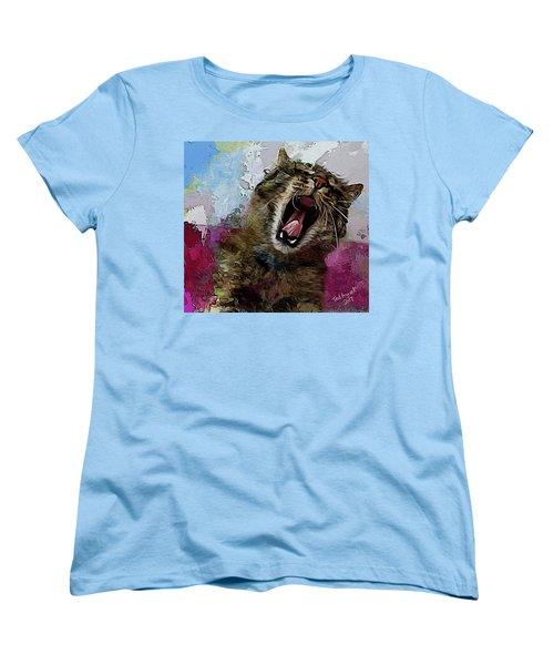 The Cat's Meow Women's T-Shirt (Standard Cut) by Ted Azriel