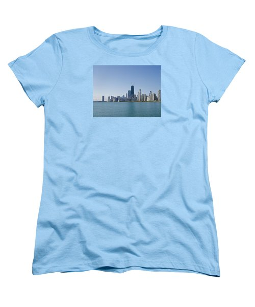 The City Of Chicago Across The Lake Women's T-Shirt (Standard Cut) by Skyler Tipton