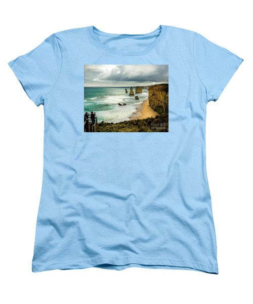 Women's T-Shirt (Standard Cut) featuring the photograph The Coast by Perry Webster