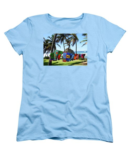 Women's T-Shirt (Standard Cut) featuring the photograph The Colors Of Barbados by Kurt Van Wagner