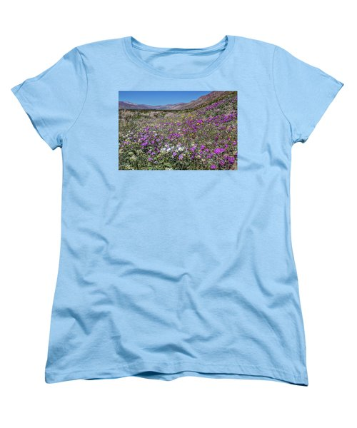 Women's T-Shirt (Standard Cut) featuring the photograph The Colors Of Spring Super Bloom 2017 by Peter Tellone