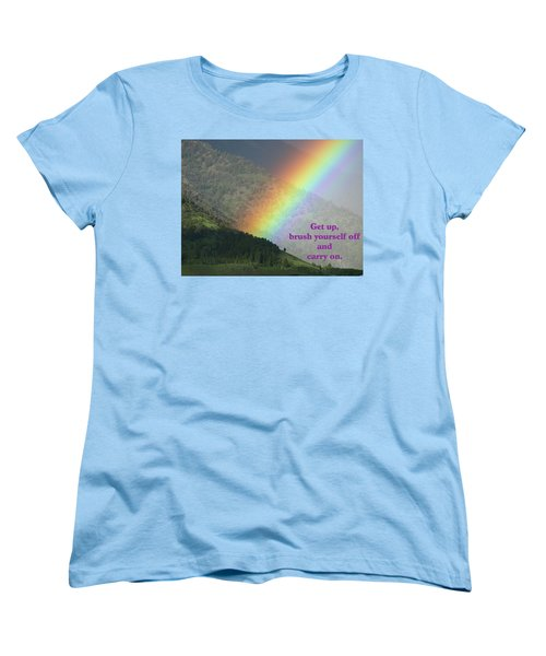 The Colors Of The Rainbow Carry On Women's T-Shirt (Standard Cut) by DeeLon Merritt