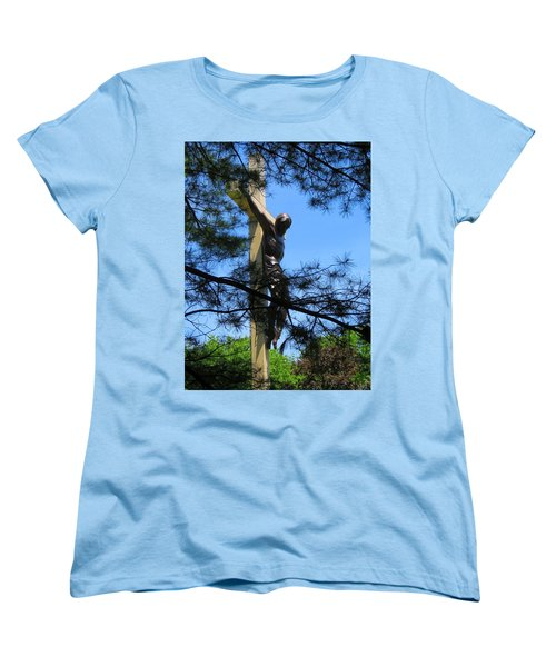 The Cross In The Woods Women's T-Shirt (Standard Cut) by Keith Stokes