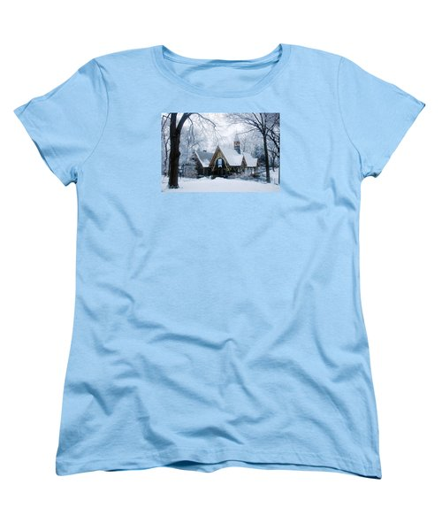 Women's T-Shirt (Standard Cut) featuring the photograph The Dairy In Winter by James Kirkikis