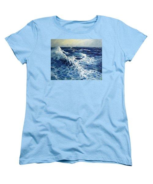 The Deep Blue Sea Women's T-Shirt (Standard Cut) by Eileen Patten Oliver