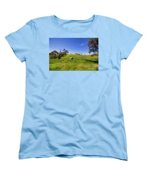 Women's T-Shirt (Standard Cut) featuring the photograph The Distant Hill by Douglas Barnard