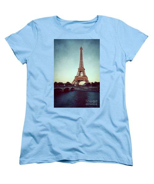 Women's T-Shirt (Standard Cut) featuring the photograph The Eifeltower by Hannes Cmarits