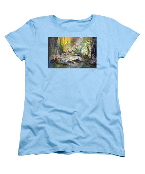 The Enchanted Pool Women's T-Shirt (Standard Cut) by P Anthony Visco