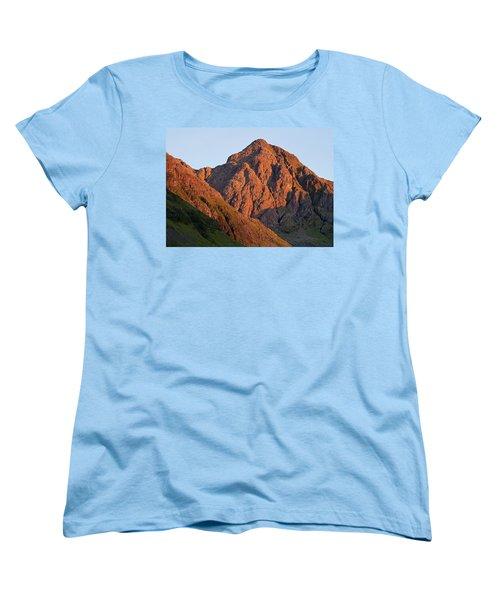 The Evening Light Hits Bidean Niam Ban Women's T-Shirt (Standard Cut) by Stephen Taylor