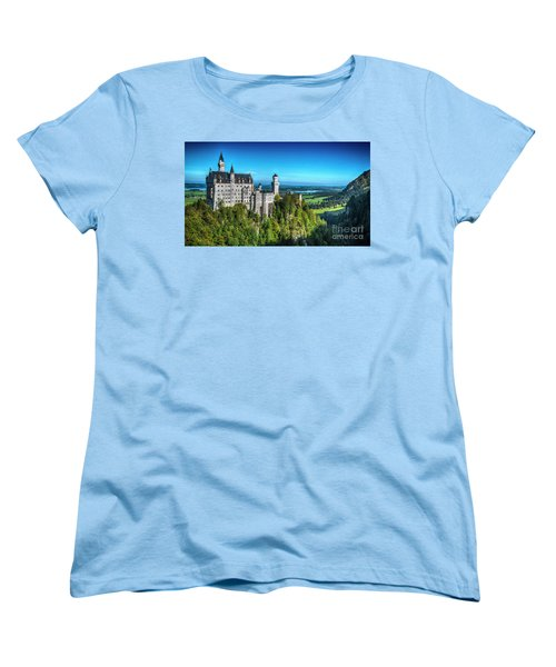 The Fairy Tale Castle Women's T-Shirt (Standard Cut) by Pravine Chester