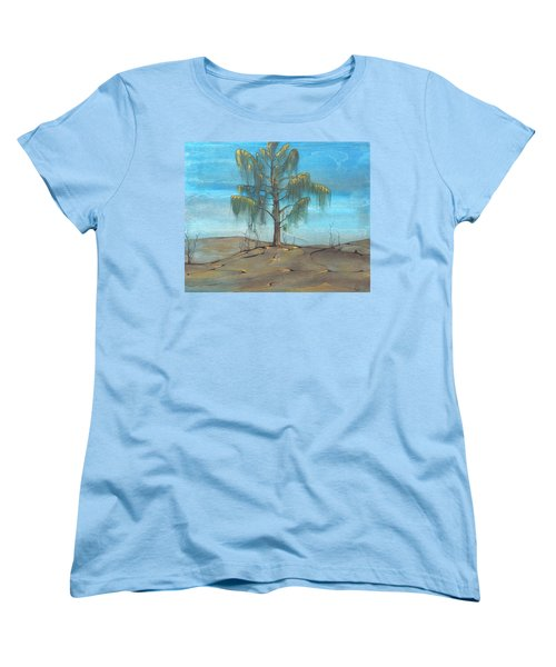 The Feather Tree Women's T-Shirt (Standard Cut) by Pat Purdy