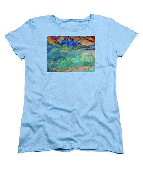 Women's T-Shirt (Standard Cut) featuring the painting The Fog Rolls In by Kim Nelson