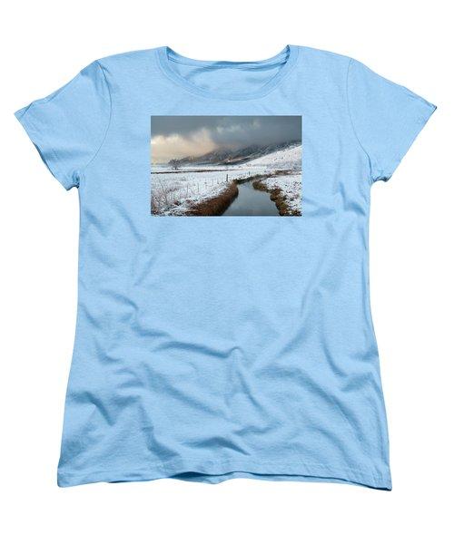 The Front Women's T-Shirt (Standard Cut) by Scott Warner