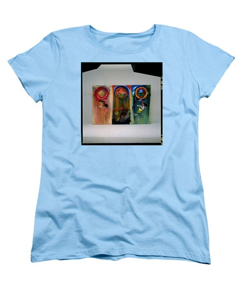Women's T-Shirt (Standard Cut) featuring the painting The Fruit Machine Stops by Charles Stuart