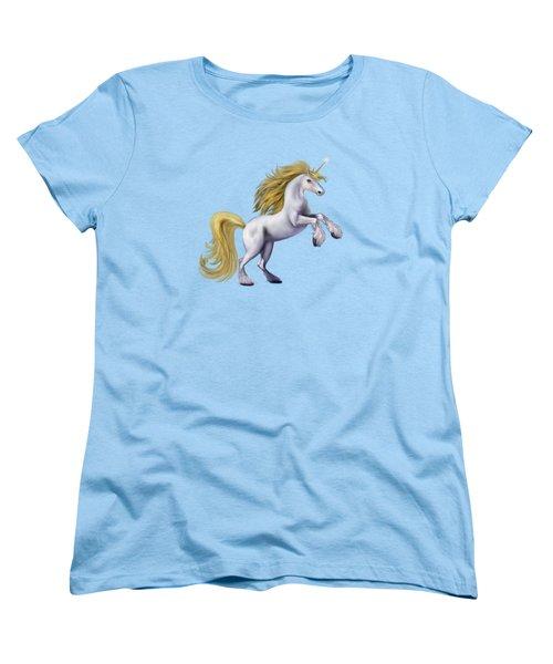 The Golden Unicorn Women's T-Shirt (Standard Cut) by Glenn Holbrook