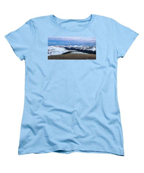 The Gore Range At Sunrise - Rocky Mountain National Park Women's T-Shirt (Standard Cut) by Ronda Kimbrow