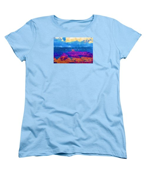 Women's T-Shirt (Standard Cut) featuring the digital art The Grand Canyon Alive In Color by Kirt Tisdale