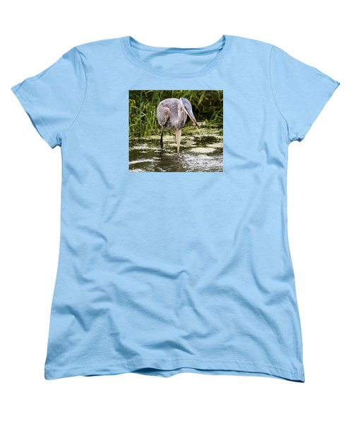 Women's T-Shirt (Standard Cut) featuring the photograph The Great Blue Heron by Ricky L Jones