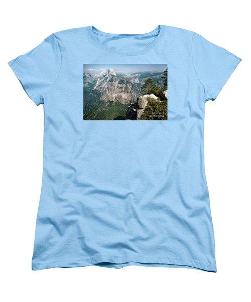 The Half Dome Yosemite Np Women's T-Shirt (Standard Cut) by Daniel Heine