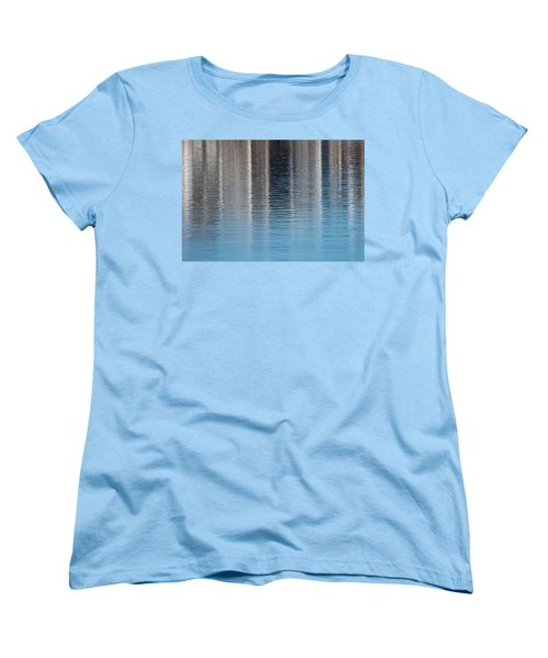 Women's T-Shirt (Standard Cut) featuring the photograph The Harbor Reflects by Karol Livote
