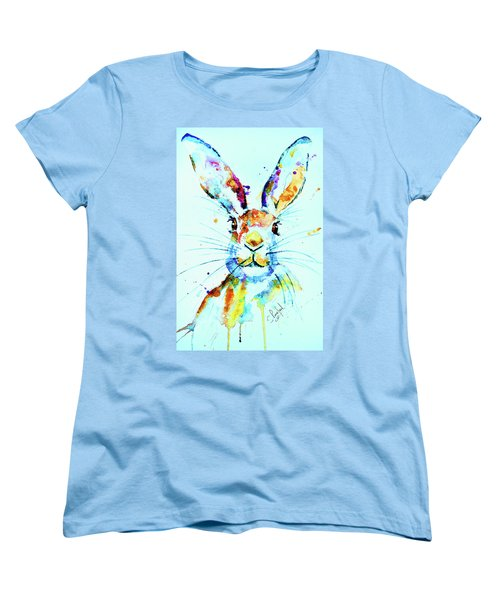 Women's T-Shirt (Standard Cut) featuring the painting The Hare by Steven Ponsford
